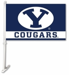 Brigham Young Cougars Car Flag with Wall Brackett [97083-FS-BSI]