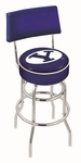 Brigham Young University 25'' Chrome Finish Swivel Counter Height Stool with Double Ring Base [L7C425BRIGYN-FS-HOB]
