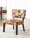Bright Floral Print Accent Chair [383-936-FS-PO]