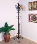 Bronze Oil Rubbed Metal Tripod Base 73''H Coat Tree with Copper Highlights [2330-FS-PAS]