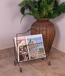 Modern Wavy Cut Out Bronze Oil Rubbed Metal 18''H Magazine Rack [2333-FS-PAS]