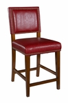 Brook 24''H Counter Stool - Red [0232RED-01-KD-U-FS-LIN]