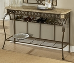 Brookside Powder Coated Metal 48''W x 35''H Fossil Stone Top Server - Brown [4815-852-FS-HILL]