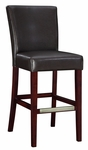 Brown Bonded Leather Bar Stool [749-847-FS-PO]