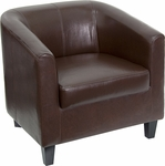 Brown Leather Lounge Chair [BT-873-BN-GG]