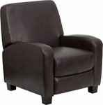 Brown Leather Push Back Recliner [MEN-DSC01067-BRN-GG]