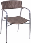 Brown Rattan Patio Chair with Arms [7400-HND]