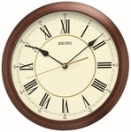 Brown Wood Grain Finish Wall Clock [QXA597ALH-FS-SEI]