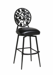 Brownsville 26'' Swivel Barstool - Phantom Finish and Ford Black Upholstery [QLBR219365936-FS-PSTL]