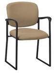 Brylee Sled Base Guest Chair with Black Frame [BR31S-E3-FS-UC]