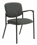 Brylee™ Stacking Guest Chair with Four Legged Base - Set of Two - Black Frame [BR31-E3-FS-UC]