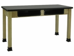 BS-BK Series High-Pressure Laminate Top Science Table [BS2448BK-AP]