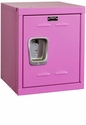 Bubble Gum Pink Kids Mini Locker Unassembled - 15''W x 15''D x 24''H