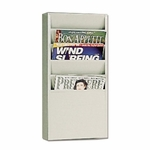 Buddy 5 Pocket Literature Display Rack - 9 3/4'' x 4'' x 20 3/8'' - Putty [BDY8116-FS-SP]