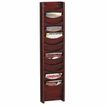 Buddy Display Rack - 12 Pockets - 11'' x 3 3/4'' x 48'' - Mahogany [BDY61216-FS-SP]