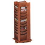 Buddy Photo Display Rack -48 Pckt -16 3/4'' x 16 3/4'' x 49 1/2 -Medium Oak [BDY61511-FS-SP]