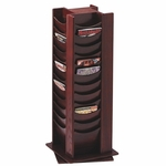 Buddy Photo Display Rack -48 Pckts -16 3/4'' x 16 3/4'' x 49 1/2'' -Mahogany [BDY61516-FS-SP]