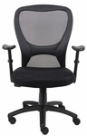 Budget Mesh Task Chair with Adjustable Height Armrest - Black [B6508-FS-BOSS]