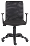 Budget Breathable Mesh Task Chair with T-Arms - Black [B6106-FS-BOSS]
