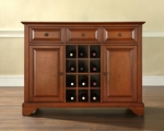 Buffet Server / Sideboard Cabinet with Wine Storage in Classic Cherry Finish with LaFayette Style Feet [KF42001BCH-FS-CRO]