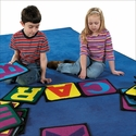 Rectangular Building Blocks Educational Alphabet Nylon Rug