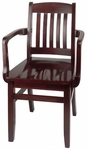 Bulldog Arm Guest Chair - Wood Seat [BULLDOG-ARM-CHAIR-FS-HSAG]