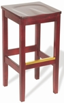 30''H Bulldog Backless Bar Stool - Wood Seat [BULLDOG-BACKLESS-BAR-STOOL-FS-HSAG]