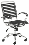 Bungie Flat J-Arm Office Chair in Black [02569BLK-FS-ERS]