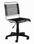Bungie Low Back Office Chair in Black and Aluminum [02546-FS-ERS]