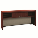 Bush® Enterprise Collection Low Hutch,  60''w x 12''d x 27-5/8''h,  Harvest Cherry [BSH2961CS03-FS-NAT]