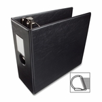 Business Source D Ring Binder withLabel Holder - Hvy Dty - 5'' - Black [BSN33121-FS-SP]