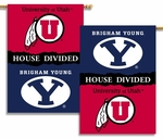 BYU - Utah 2-Sided 28'' X 40'' Banner with Pole Sleeve House Divided [96883-FS-BSI]