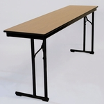 C-Leg Rectangular Table with Bumper T Molding and Plywood Top - 18''W x 60''D [DPCLEG1860-MFC]