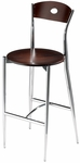 Cafe Twist Barstool with Maple Ply Wood Circle Back and Ply Wood Seat [196-30-MTS]