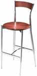 Cafe Twist Maple Barstool with Ply Wood Back and Ply Wood Seat [194-30-MTS]