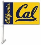 Cal Berkeley Golden Bears Car Flag with Wall Brackett [97056-FS-BSI]