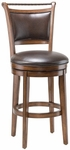 Calais 26'' Counter Height Stool with Bark Brown Vinyl Swivel Seat - Distressed Medium Brown Cherry [4298-826S-FS-HILL]