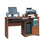 Camden County 53''W x 34''H Wooden Computer Desk with Elevated Shelf - Planked Cherry [101730-FS-SRTA]