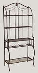 Camelot Metal and Wood 30''W x 70.5''H Baker's Rack - Black Gold [41417-FS-HILL]
