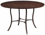 Cameron Wood 48'' Diameter Round Dining Table with Metal Base - Chestnut Brown [4671DTB-FS-HILL]