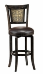 Camille Wood 26.5'' Counter Height Stool with Dark Brown Vinyl Swivel Seat - Dark Brown [4861-826-FS-HILL]