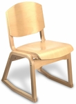 Campus 2-Position Armless Guest Chair - Wood Seat [CAMPUS2-FS-HSAG]