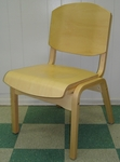 Campus 4 Armless Stacking Guest Chair - Wood Seat [CAMPUS4-FS-HSAG]