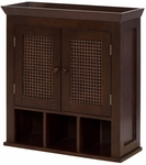 Cane Wall Cabinet w/ 2 Doors & Cubbies [6018-FS-EHF]