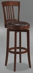 Canton 31'' Bar Height Stool with Dark Brown Faux Leather Swivel Seat - Brown [4166-833-FS-HILL]