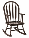 Solid Wood Windsor Arrow Back 28''H Juvenile Rocking Chair with Spindle Supports - Cappuccino