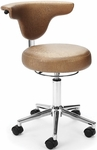 Elements Anatomy Anti-Microbial and Anti-Bacterial Vinyl Chair - Capreni Carob [E910-CARB-FS-MFO]