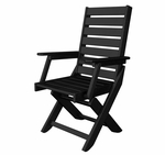 POLYWOOD® Captain Collection Dining Chair - Black [CC4423-1BL-FS-PD]