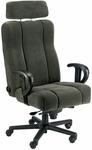 Captain Office Chair with Ultra Wide Adjustable Headrest - Fabric [OF-CAPT-F-FS-ARE]