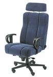 Captain Office Chair in  Leathermate [OF-CAPT-LLM-FS-ARE]